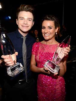 Lea-Michele-e-Chris-Colfer